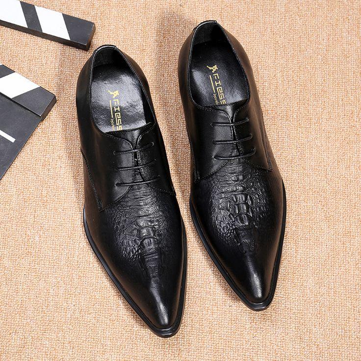 Sapatos Formal Dos Homens de Moda clássico crocodile grain estilo pontas do dedo do pé Sapatas de Vestido Dos Homens Marcas de luxo Sapatos Oxford Para Homens em Sapato social de Sapatos no AliExpress.com   Alibaba Group