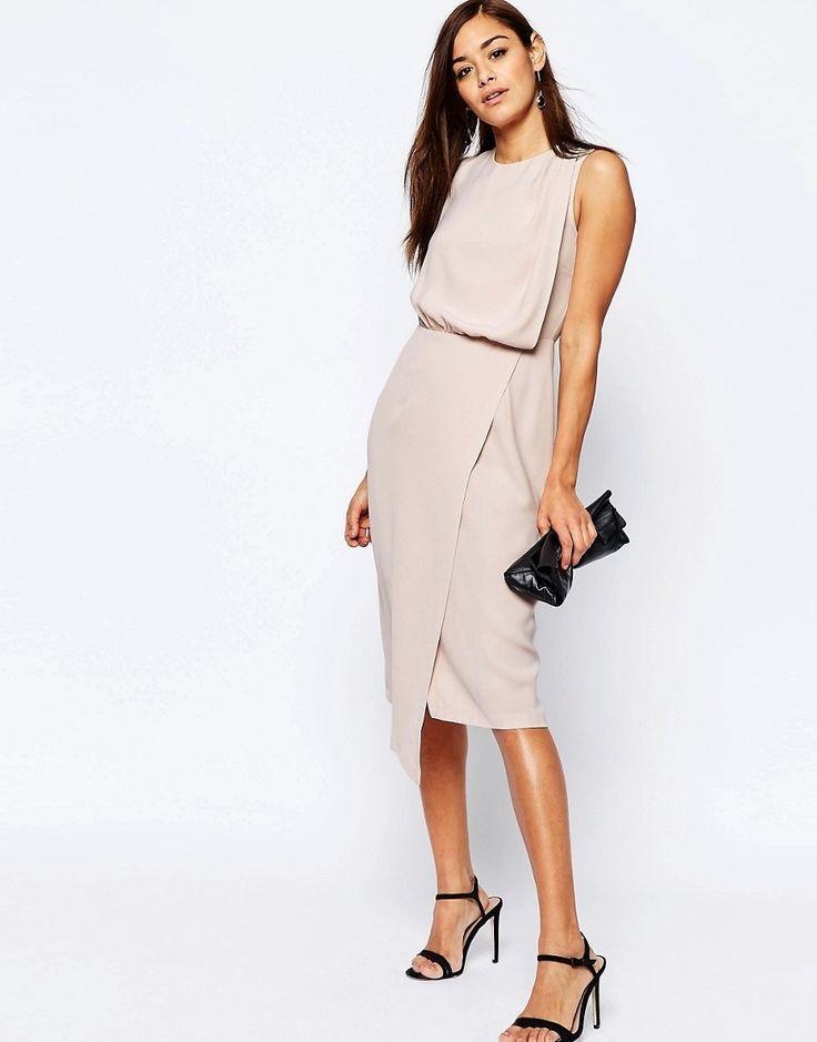 Image 4 ofASOS Drape Front Dress