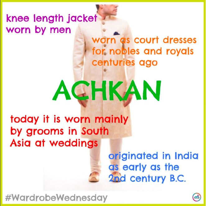 Women have the sari. Women have the salwar kameez. So what do the men wear? The achkan of course! This specific wardrobe is worn by men throughout South Asia for both informal and formal occasions. Find out more fun facts about the achkan!