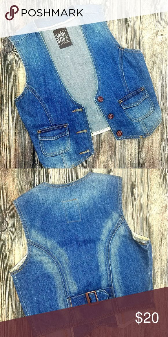 NWOT Old Navy Jean vest New never worn old navy jean jacket vest 100%cotton  Made in Indonesia Old Navy Jackets & Coats Vests