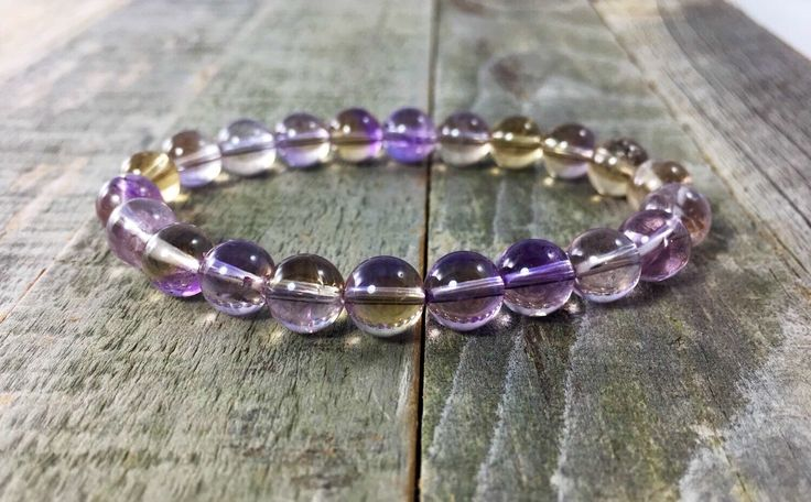 A personal favorite from my Etsy shop https://www.etsy.com/listing/258326295/natural-ametrine-bracelet-aaa-grade