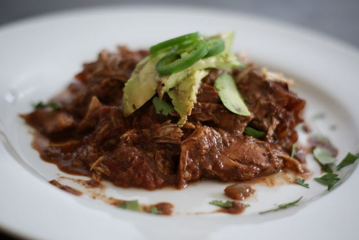 {Slow-cooker Chocolate Chicken Mole...