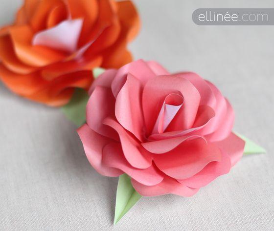 Make a paper rose: Crafts Ideas, Flower Templates, Diy Crafts, Paper Rose Tutorials, Flower Tutorials, Paper Flower Tutorial, Rose Diy, Paper Crafts, Diy Paper