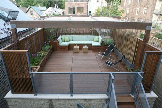 68 best garage upper deck images on pinterest backyard for Garage roof deck plans