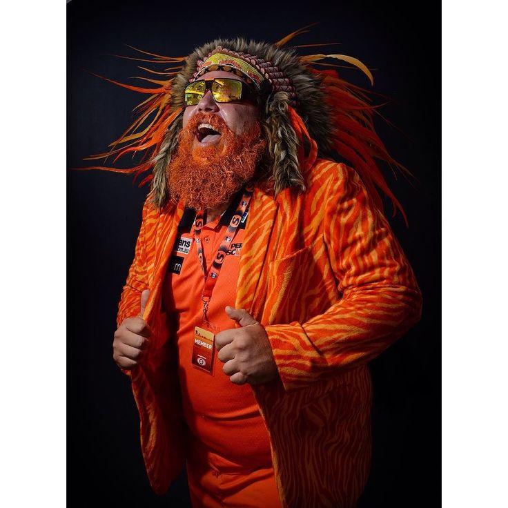 @scorchersbbl fanatic @choombies shows off his new headdress before the big match against the Sixers last Saturday. #bbl #portrait #cricket #perth #perthnow #waca #nikon #nikond4 #sport #sportsshooter #lovemyjob #madetough #orangenation #westernaustralia @perth_now by lensman_dan