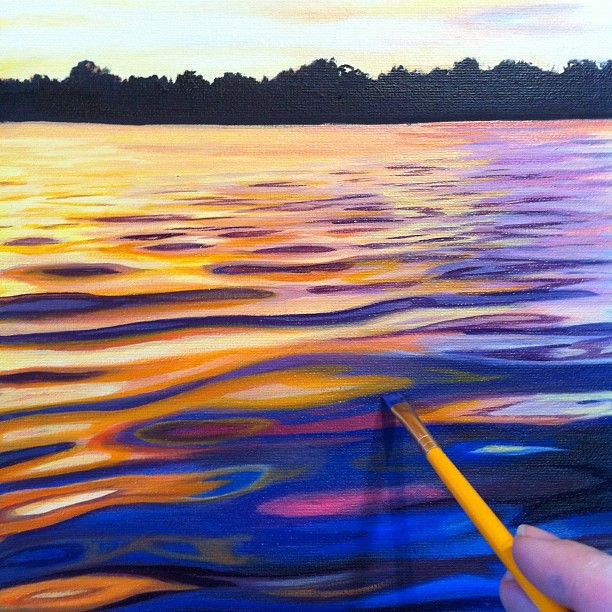 how to water paint a sunset - Google Search