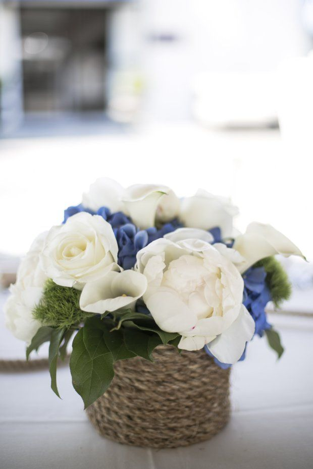 Nautical Centerpiece - Molly and Nick's Regatta Place Wedding | The Newport Bride