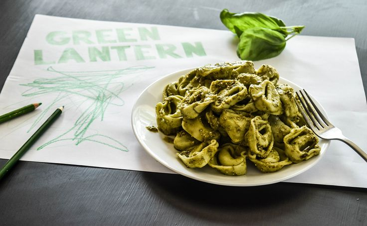 """Kids love FUN so why not make eating healthy fun for them? This is our Angelo's """"Green Lantern"""" Pasta and the kids LOVE it! Cook some of Angelo's spinach and ricotta tortelloni, mix through some basil pesto, tell your kids it's special """"Green Lantern Pasta"""" and watch them devour it!"""