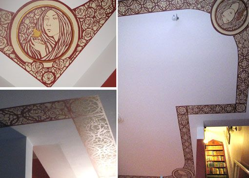 Designed and painted this ceiling ornament during my practice period for interior building around 2008-2009.