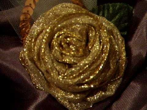 """This is metallic wire ribbon about an 1"""" wide. Love these! Please check out A Vintage Design Studio at suziecrafter.blogspot.com - Thank you! ~Suz"""