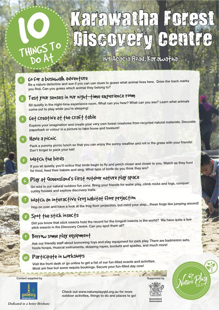 10 Things To Do At Karawatha Forest Discovery Centre.  Nature Play QLD's Nature Playlist.