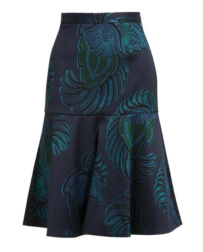 Eagle Crest Printed Wool-blend Skirt | Stella McCartney