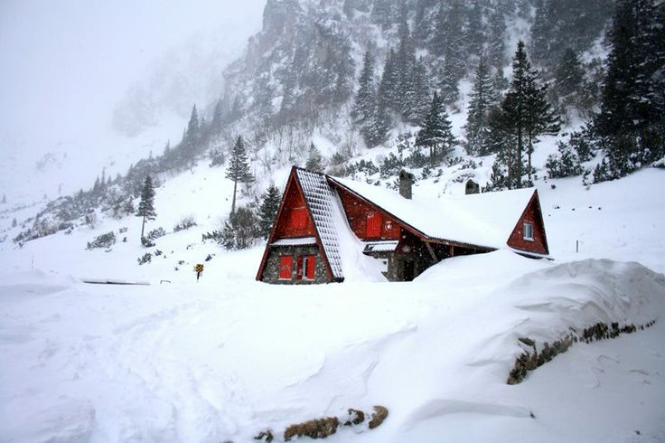 Winter at Malaiesti chalet, bucegi mountains