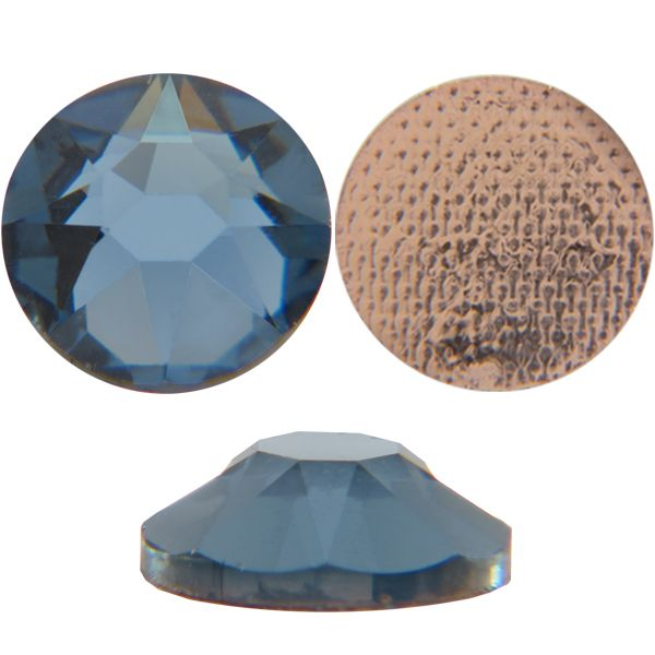 Swarovski 2078 XIRIUS Rhinestones Hot Fix, Denim Blue, Round, ss12 foiled
