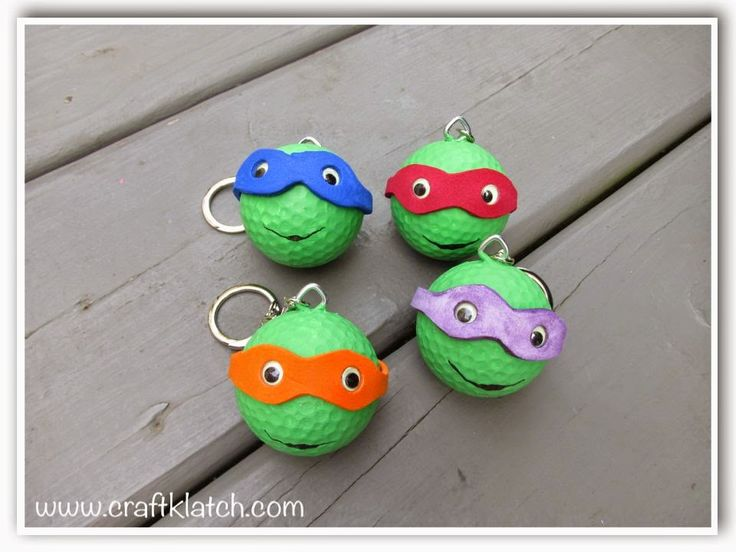 Diy Teenage Mutant Ninja Turtles Backpack Charms Or Ornaments With Recycled Projects For Teenagers