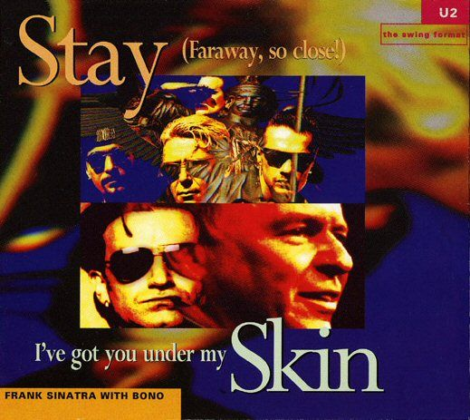 U2 - Stay (Faraway, So Close!) (1 sept., 1993) http://www.u2.com #u2newsactualite #u2newsactualitepinterest #u2 #bono #theedge #adamclayton #larrymullen #music #rock https://upload.wikimedia.org/wikipedia/en/2/24/Stay_(Faraway,_So_Close!)_U2.jpg