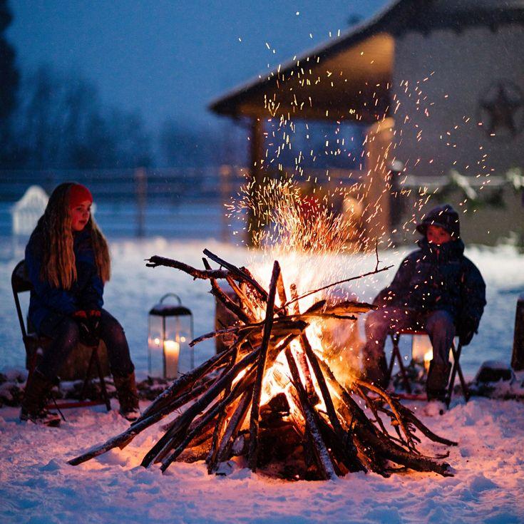 больше покажите пожалуйста картинки отдыхающих зимой у костра которую