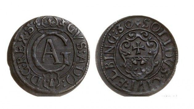 Elbląg 1630, szeląg, Gustaw Adolf,