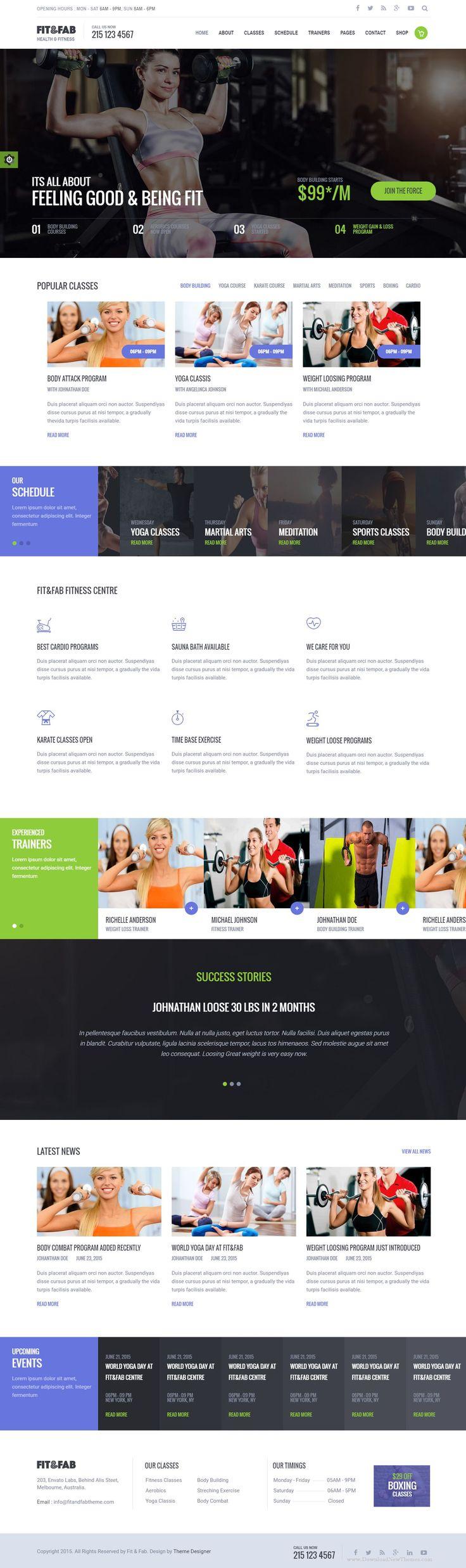 129 best fitness images on Pinterest | Website designs, Design web ...