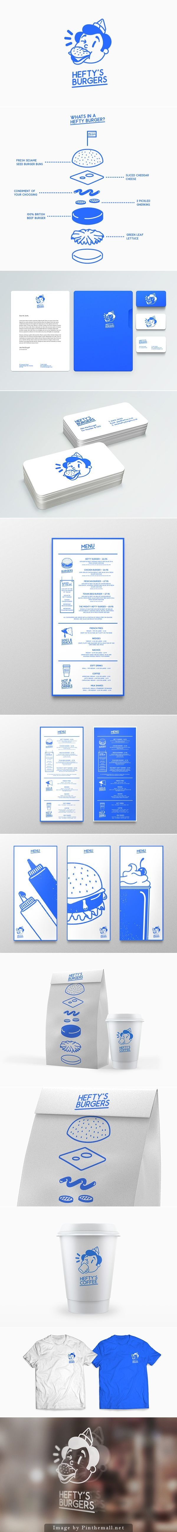 Heftys Burgers branding and identity designed by Jake MacDougall #infographics
