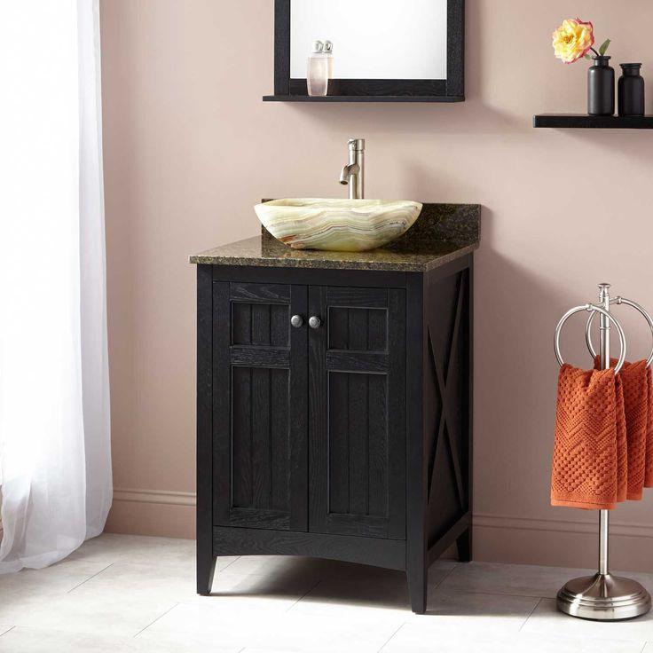 24 Alvelo Vessel Sink Vanity Black Bathroom Vanity Black Vanity Bathroom Vanity Sink Bathroom vanities manhattan ryvyr v