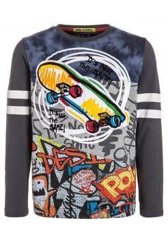 Desigual - FERMIN - Camiseta manga larga - carbon