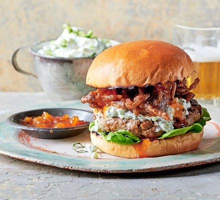 We've combined two of our favourite recipes to make a bhaji in a bun. Serve with mango chutney and a fluffy brioche bun