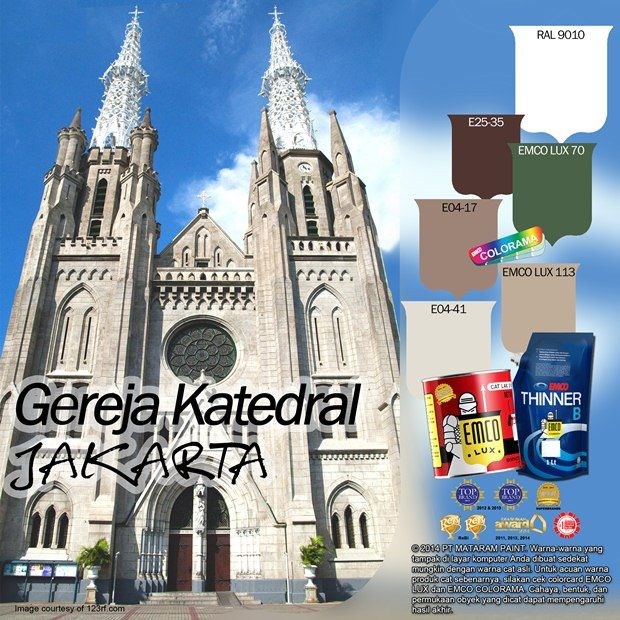 Gereja Katedral Jakarta #Inspirasi #Warna #EMCOPaint http://matarampaint.com/detailNews.php?n=369