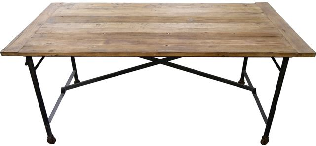 Rustic Recycled Timber DINING TABLE French Provincial Industrial Vintage 1890mm