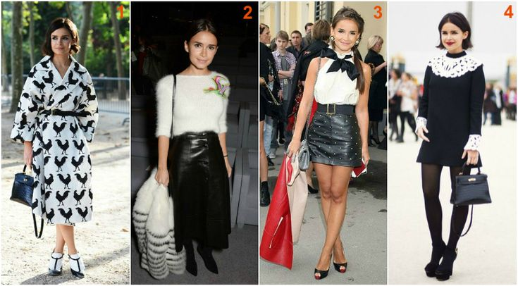 Miroslava Duma black and white