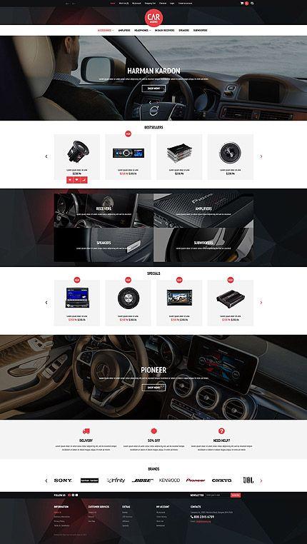 Car Audio Online Store #OpenCart #webtemplate #themes #business #responsive #template