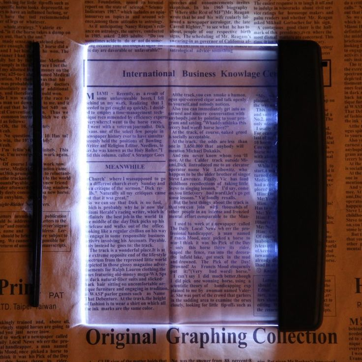 Creative Plastic LED Light Panel Portable Flat Book Reading Lighting Lamp New #Unbranded