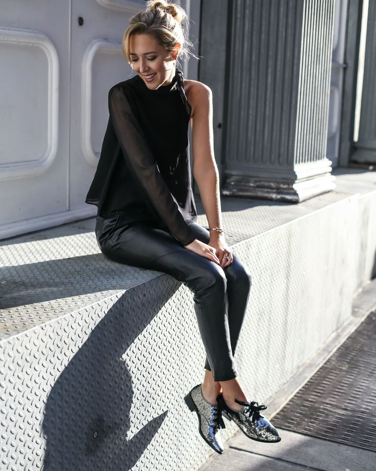 sequin-giltter-oxford-flats-christmas-socks-leather-pants-one-shoulder-tie-neck-top0
