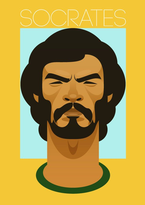 Doctor Socrates – Soccer Prints / Stanley Chow #stanley #chow #illustrazione #calcio #sport #poster