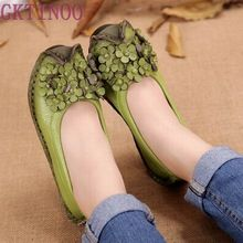Весна и Осень Ручной Работы цветок женская обувь из натуральной кожи женщина мокасины мокасины мягкая подошва повседневная обувь квартиры(China (Mainland))