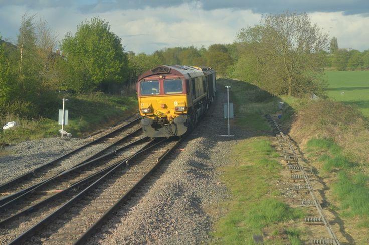 Barrier Train Through Lichfield City