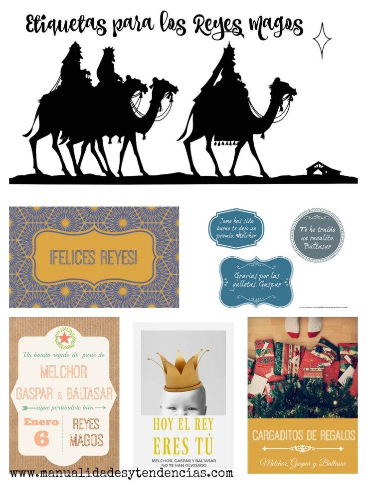 Etiquetas de regalo para Reyes Magos www.manualidadesytendencias.com #imprimibles #freebies #gratis #etqiuetas #Reyes #Magos #regalo #gift #tag