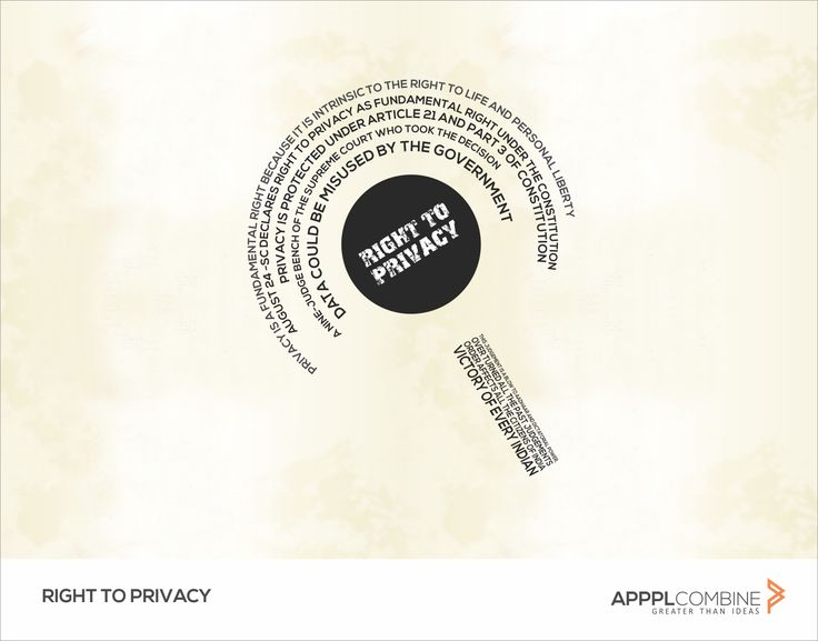 Right To Privacy :- #Privacy Is A Fundamental Right. From Now, Don't Let Them Tell Otherwise.