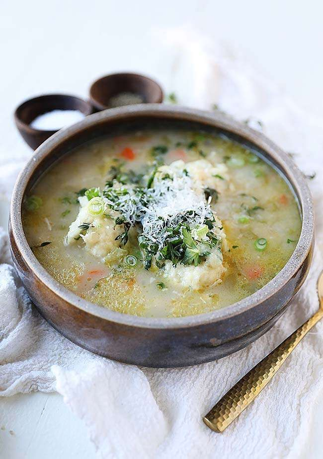 Creamy Chicken and Dumpling Soup Recipe | When it's cold outside almost always turn to making a gigantic pot of soup. There is something therapeutic to me about making and eating soup during those chilly winder months. Learn how easy it is to make this Creamy Chicken and Dumpling Soup Recipe that is soothing to the soul. #soup #chicken @chefbillyparisi