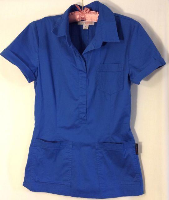 Koi stretch Royal Blue Scrubs Size Small | eBay