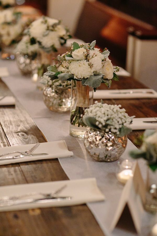 White Wedding at Houston Station in Nashville | Flowers by Enchanted Florist, Photo by EB Photography + Artistry