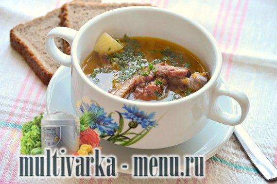 Гороховый суп с курицей в мультиварке рецепт с фото пошагово