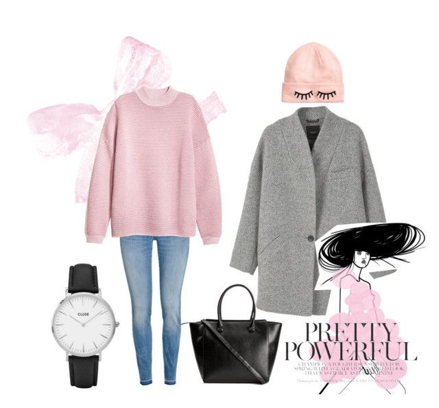 Pink Winter by hanahraa on Polyvore featuring polyvore fashion style MANGO H&M CLUSE clothing