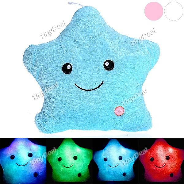 Romantic Multi-Color Shining Plush Throw Pillow Cushion with Flashing LED Light HHI-237147