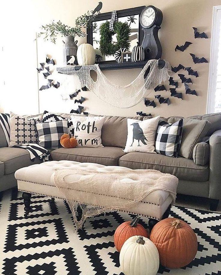 48 wunderbare DIY Halloween Wohnzimmer Dekoration Ideen