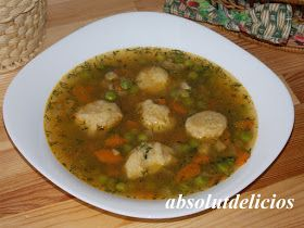 Absolut Delicios - Retete culinare: SUPA DE MAZARE CU GALUSTE DE FAINA