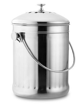stainless steel compost pail our countertop canister collects the food scraps that will be transferred to an outdoor composter u2013 and eventually to yo