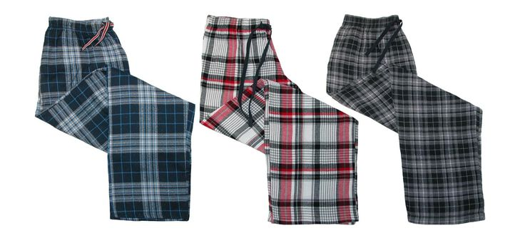 Ten West Apparel Men's Flannel Pajama Sleep Pants (3 Pair Pack)