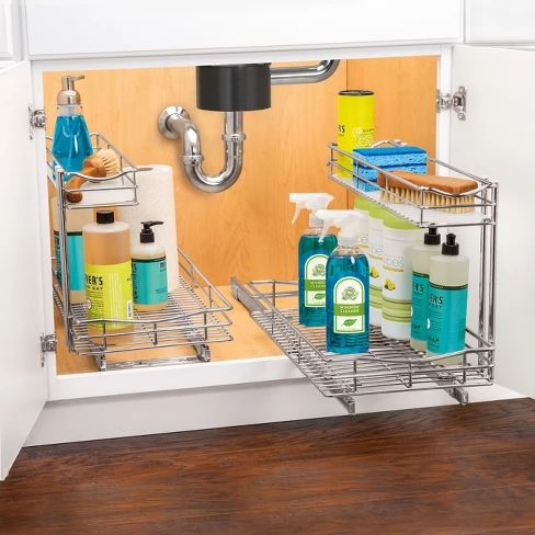 Best Lynk Professional® Pull Out Under Sink Drawer 2 Tier 400 x 300