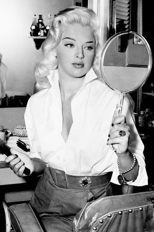 vintagegal:  Diana Dors on the set of I Married a Woman (1958)